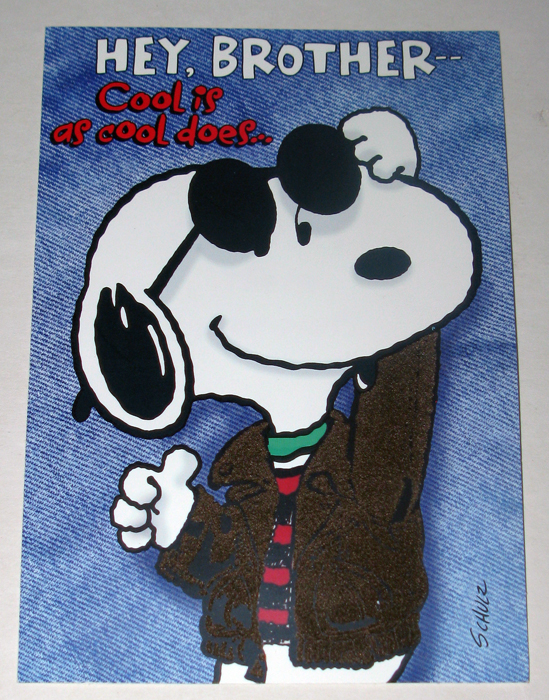 ... greeting cards snoopy joe cool brother birthday greeting card: www.collectpeanuts.com/wp/shop/holidays-special-occasions/greeting...