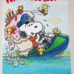 Snoopy & Woodstock boating Cousin Birthday Greeting Card