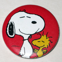 Snoopy & Woodstock Button