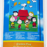Peanuts Gang around doghouse 'Welcome Home' Mini Decorative Flag