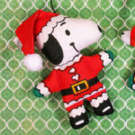 Santa Snoopy Christmas Doll Ornament