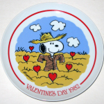 Snoopy Scarecrow in field of Hearts