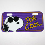 Snoopy Joe Cool Bike License Plate
