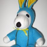 Snoopy blue & yellow Easter Beagle Plush