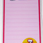 Snoopy comic strip Magnetic List Pad