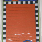 Snoopy laying on pumpkin Halloween Magnetic List Pad