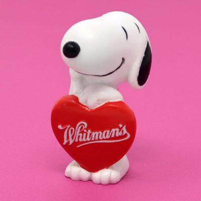 Snoopy holding Valentine heart PVC Figurine