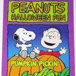 Snoopy & Linus in pumpkin patch Halloween Coloring Book
