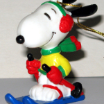 Skiing Snoopy Ornament