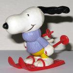 Skiing Snoopy PVC Figurine