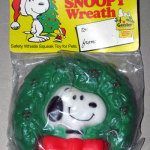 Snoopy in Wreath Squeaky Toy