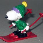 Snoopy skiing PVC Figurine