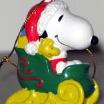 Santa Snoopy in Sleigh Ornament