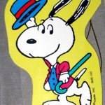 Snoopy dancing with hat and cane Gift Tag