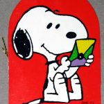 Snoopy reading letter Gift Tag