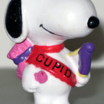 Snoopy cupid with bow and arrow Valentine's PVC Figurine