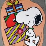 Snoopy carrying gift boxes Gift Tag