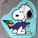Snoopy reading photo album book Gift Tag