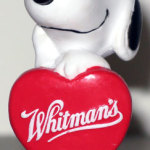 Snoopy holding Valentine heart PVC Figurine