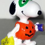 Snoopy dressed as pumpkin trick-r-treating Halloween PVC Figurine