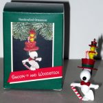 Snoopy in top hat with Woodstock Ornament