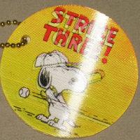 Snoopy Baseball Flasher Keychain