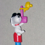 Snoopy Joe Cool Listening To Radio With Woodstock Pencil