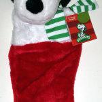 Santa Snoopy plush head Stocking