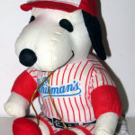 Snoopy baseball player Valentine's Day Plush