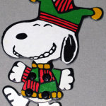 Snoopy jester jointed cardboard Ornament
