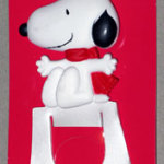 Snoopy sitting on doghouse Gift Trim Bookmark