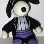 Snoopy wearing tux and mask Halloween Plush