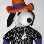 Snoopy wearing spider web and witch hat Halloween Plush