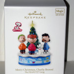 Peanuts Gang Caroling around Christmas Tree Ornament