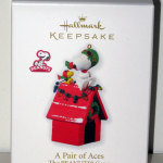 Snoopy Flying Ace & Woodstock on Doghouse Ornament