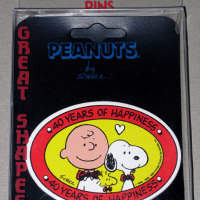 Snoopy and Charlie Brown 40th Anniversary Pin/Button
