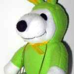 Snoopy green & yellow Easter Beagle Plush