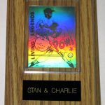 Charlie Brown and Stan the Man Hologram Card Wall Display
