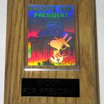Snoopy for President Hologram Card Wall Display