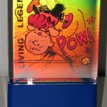Charlie Brown and Stan the Man Hologram Card Clock Display