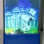 Snoopy for President Hologram Card Clock Display