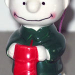 Charlie Brown holding stocking Ornament
