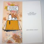 Snoopy 'Pup Tent' Birthday Card