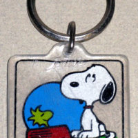 Snoopy and Woodstock in Dogdish Keychain