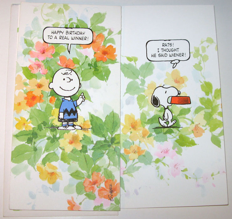 Charlie Brown Snoopy Real Winner Birthday Card Collectpeanuts
