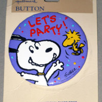 Snoopy and Woodstock 'Let's Party!' Button