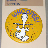 Snoopy dancing 'Whoopee!' Button