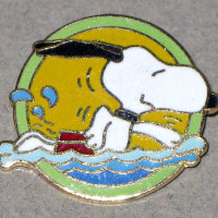 Snoopy swimming Pin