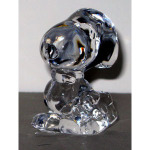 Snoopy with bowtie and briefcase Crystal Figurine