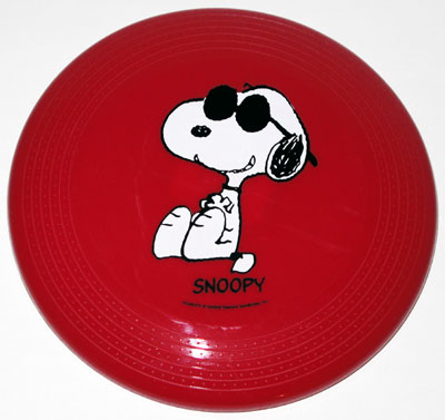 Snoopy Joe Cool Red Frisbee Disc Dog Toy